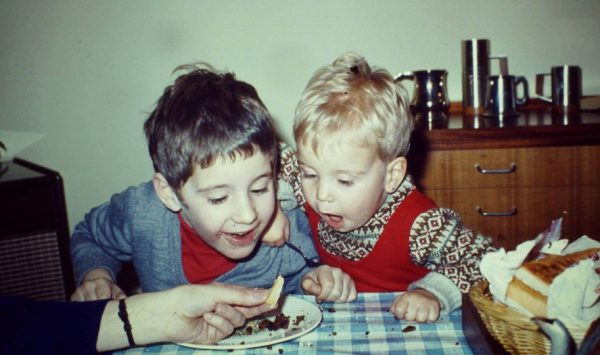 David and Mike as kids